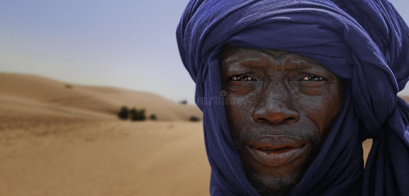 Tuaregs i Timbuktu royaltyfria foton