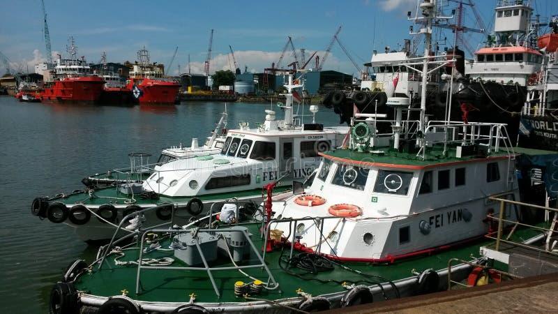 Tuas dock yard royalty free stock photos