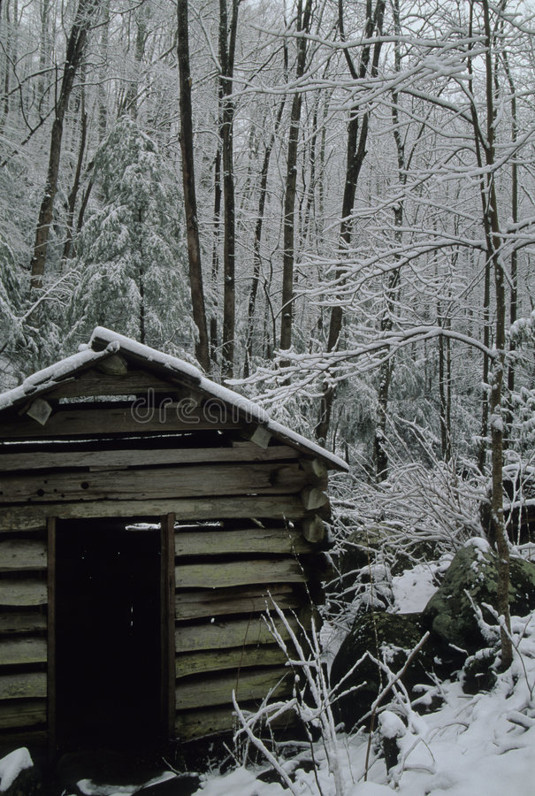Tub Mill, Snow royalty free stock photography