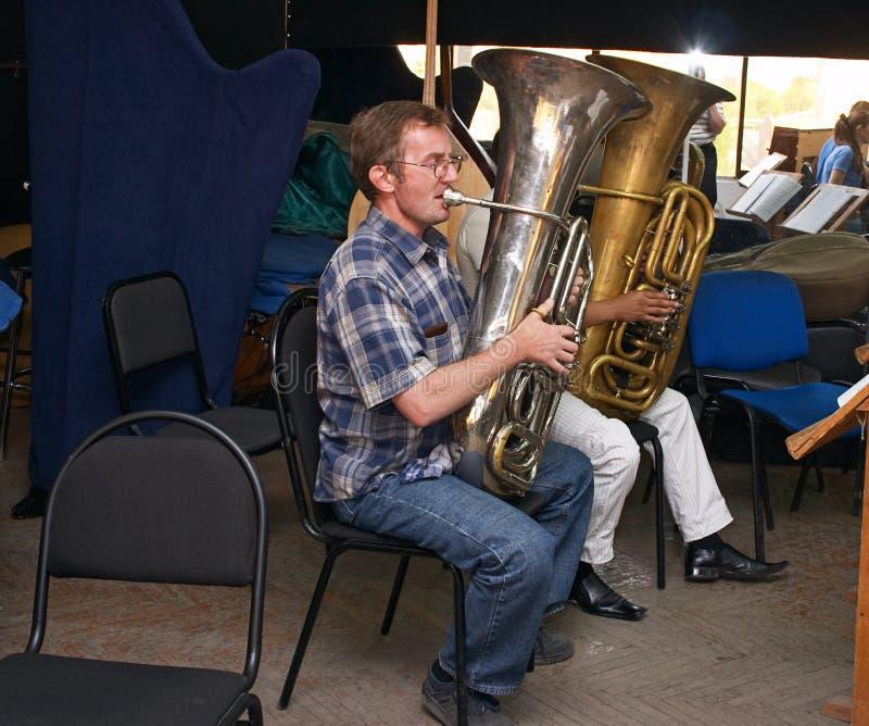 tuba φορέων στοκ φωτογραφίες