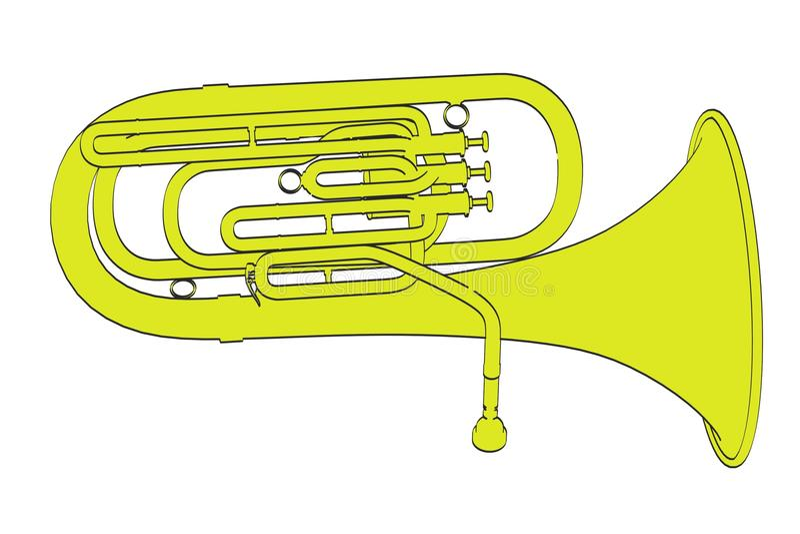 tuba stock illustrationer