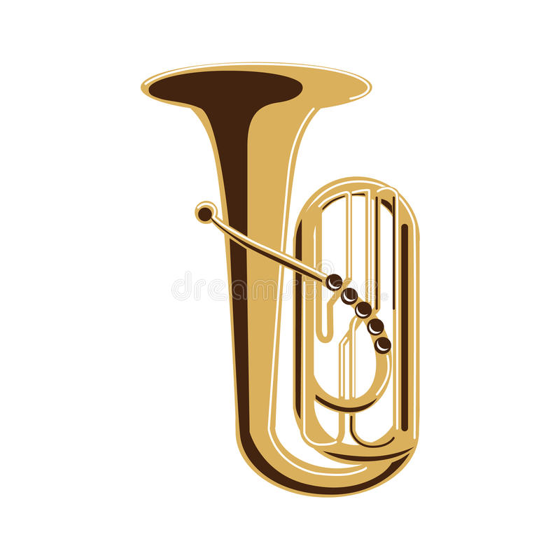 Tuba auf Weiß vektor abbildung