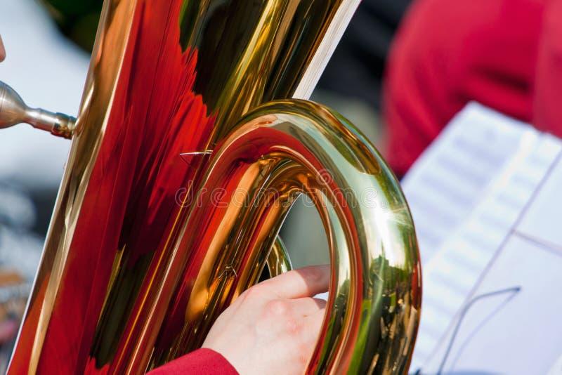 Tuba com reflexão fotos de stock royalty free