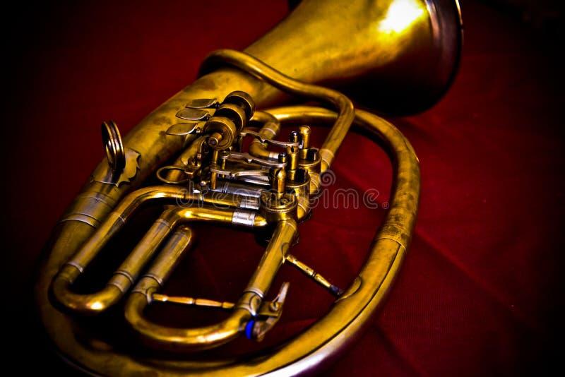 Tuba d'euphonium de cru photo libre de droits