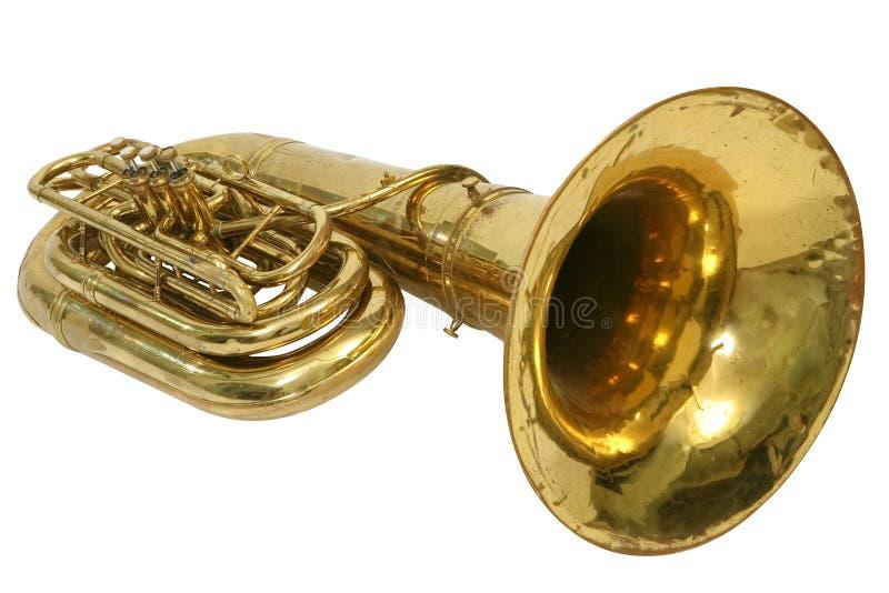 Tuba d'instrument photo libre de droits