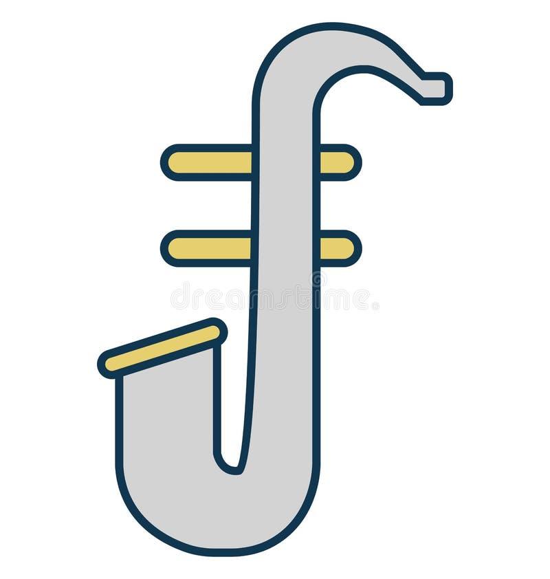 Tuba, französisches Horn-lokalisierte Vektor-Ikone für Partei und Feier vektor abbildung