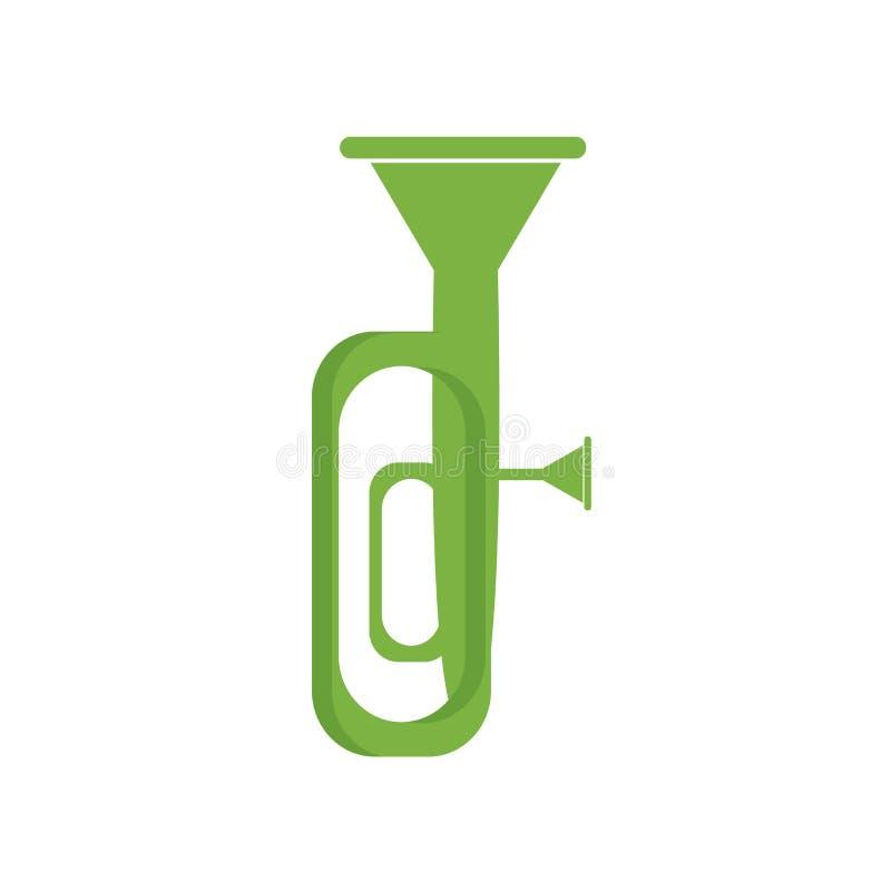 Tuba ikony wektoru znak i symbol odizolowywający na białym tle, T ilustracja wektor