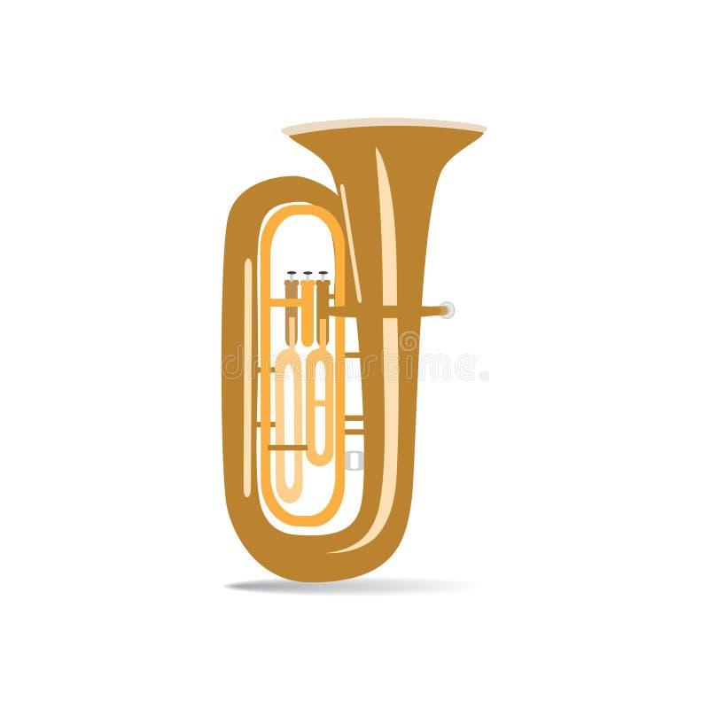 Tuba lokalisiert, Vektorillustration lizenzfreie abbildung