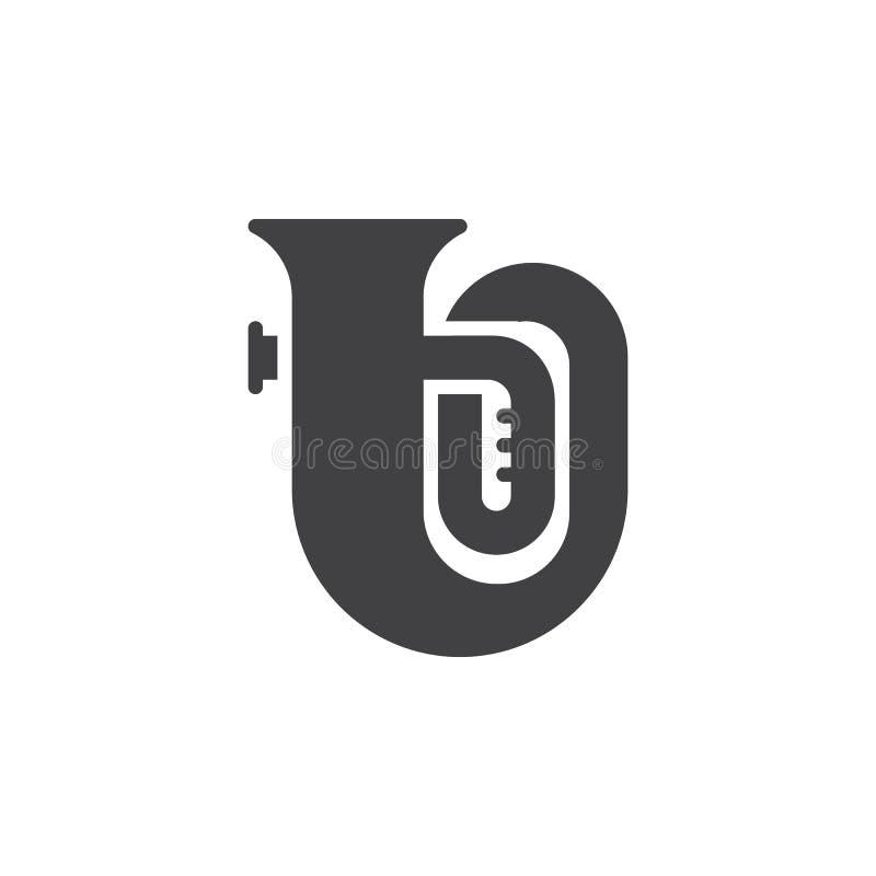 Tuba Music Instrument-Vektorikone lizenzfreie abbildung