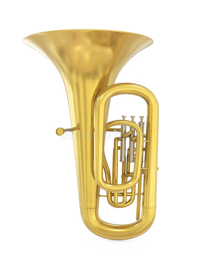 Tuba Musical Instrument Isolated stock abbildung