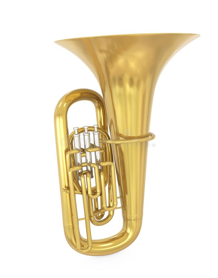 Tuba Musical Instrument Isolated lizenzfreie abbildung