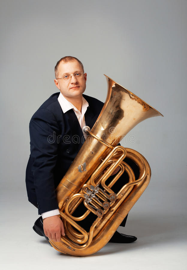 Download Tuba Player stock image. Image of classical, bass, popular - 19177007