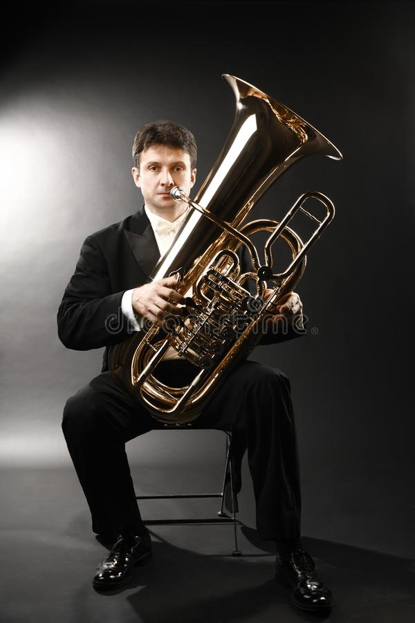 Free Tuba Player Brass. Classical Musician Stock Photography - 113407282