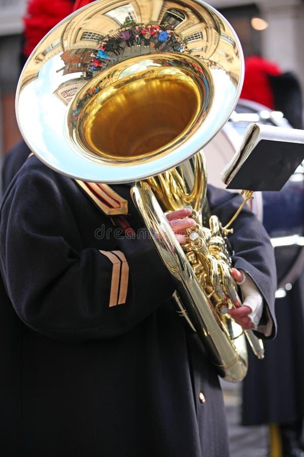 Tuba Player grande imagen de archivo