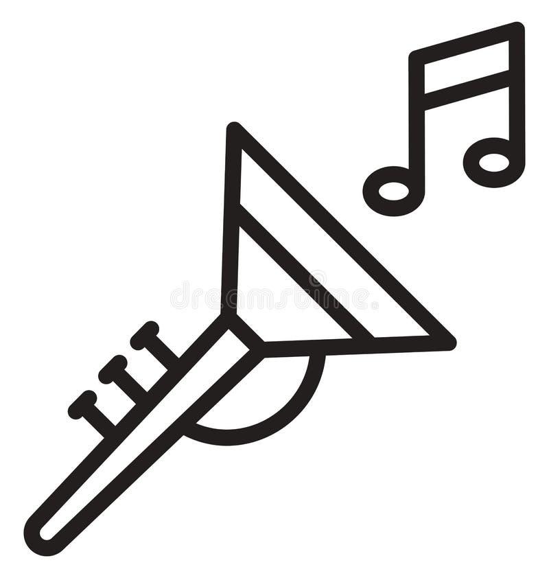 Tuba Vector-Ikone, die leicht geändert werden oder redigieren kann stock abbildung