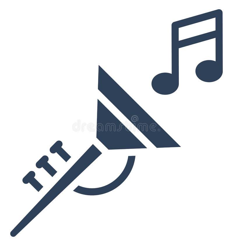 Tuba Vector-Ikone, die leicht geändert werden oder redigieren kann lizenzfreie abbildung