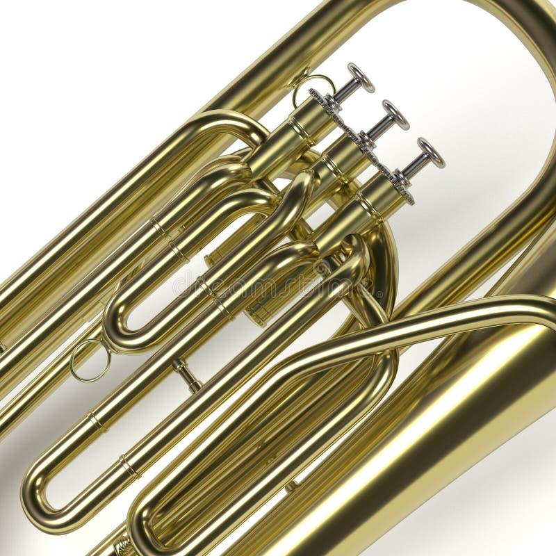 Tubamusikinstrument stock illustrationer
