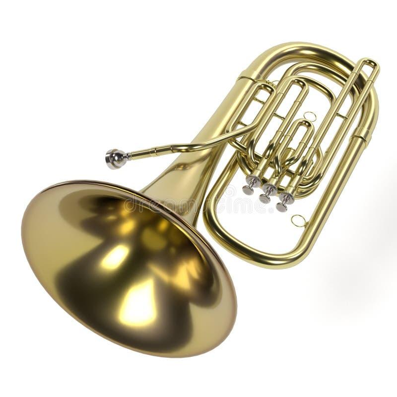 Tubamusikinstrument royaltyfri illustrationer
