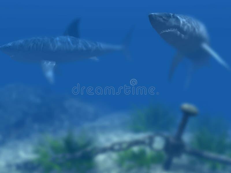 tubarão 3d fotos de stock royalty free