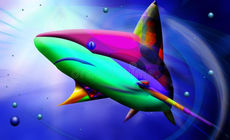 Tubarão abstrato ilustração stock