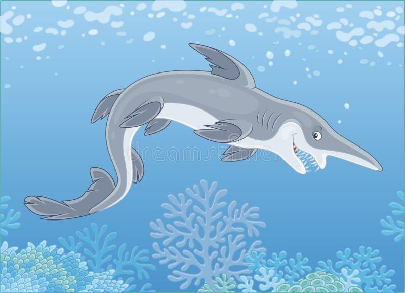 Tubarão assustador do diabrete ilustração do vetor