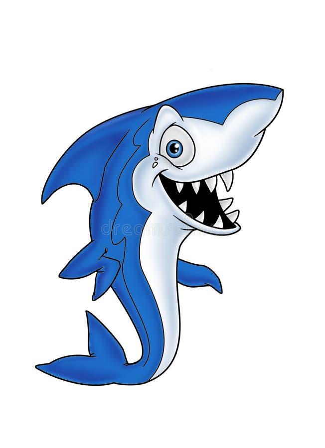 Tubarão azul 1 dos peixes ilustração stock