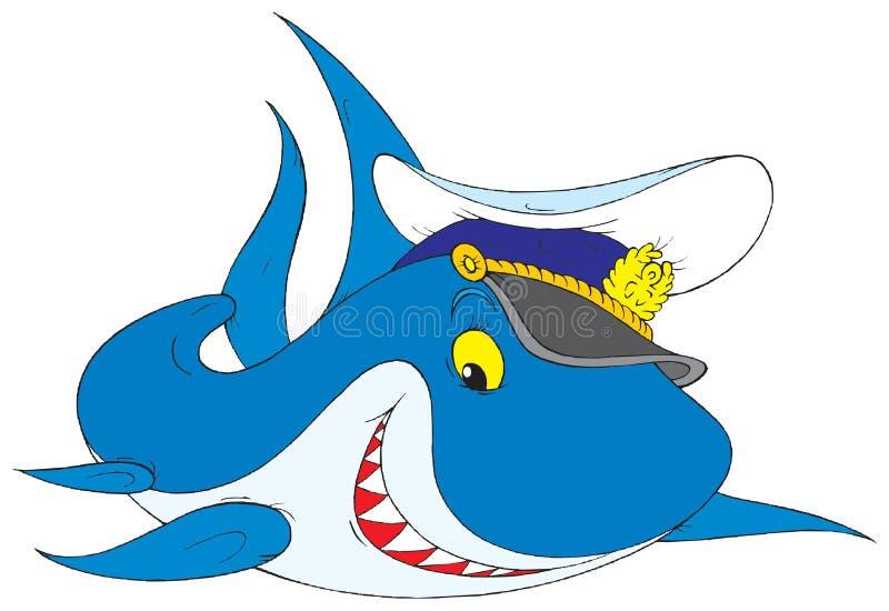 Tubarão branco ilustração royalty free