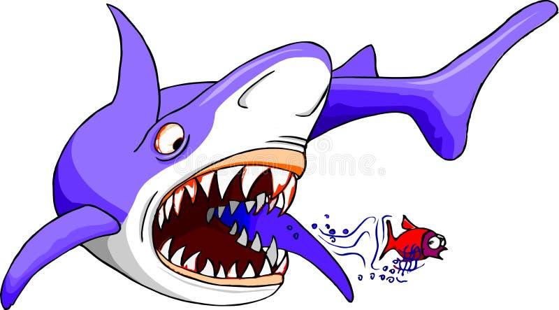 Tubarão com fome ilustração royalty free