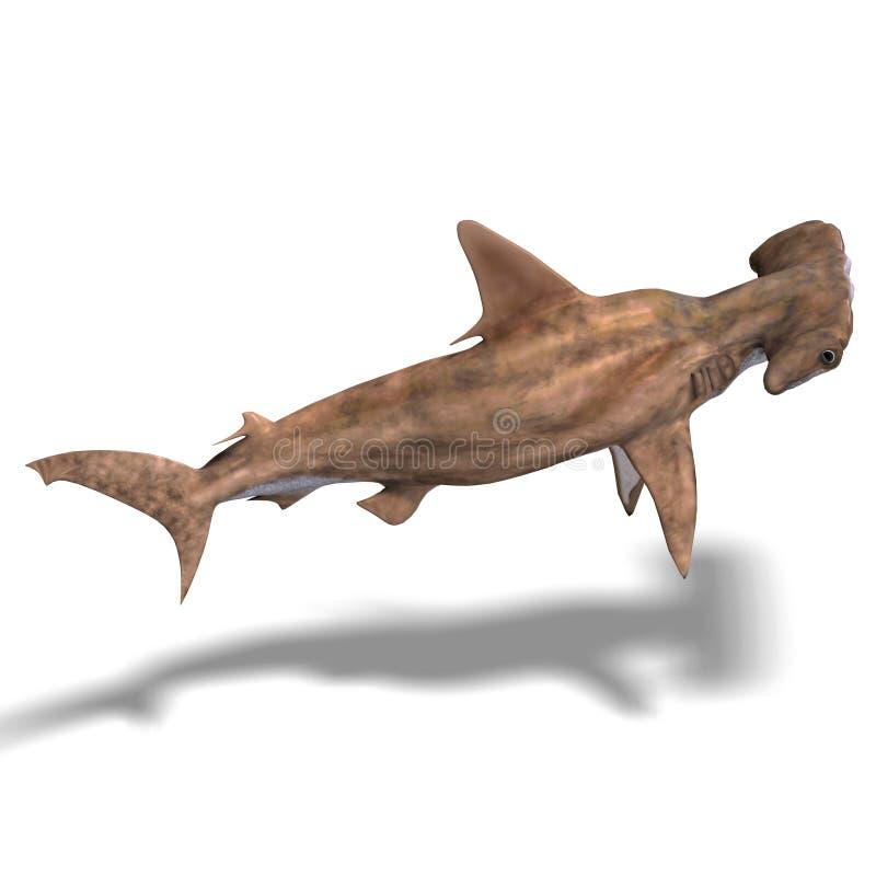 Tubarão de Hammerhead ilustração royalty free