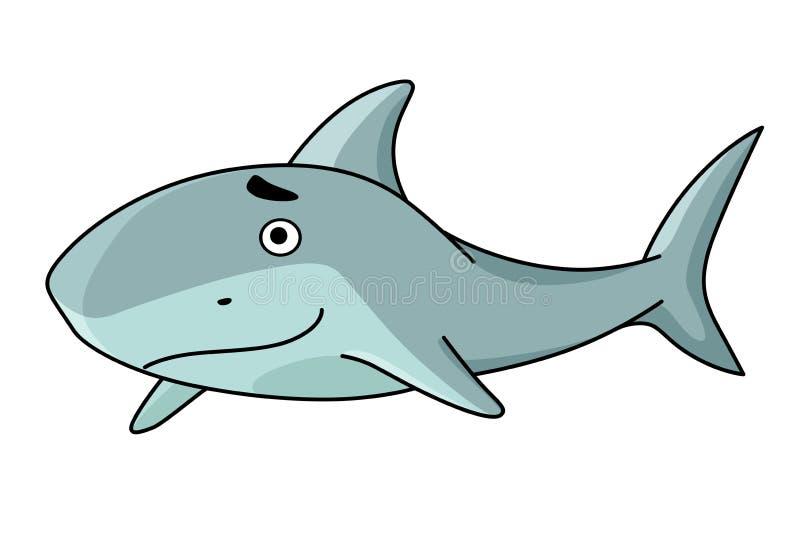 Tubarão de sorriso grande da natação ilustração do vetor