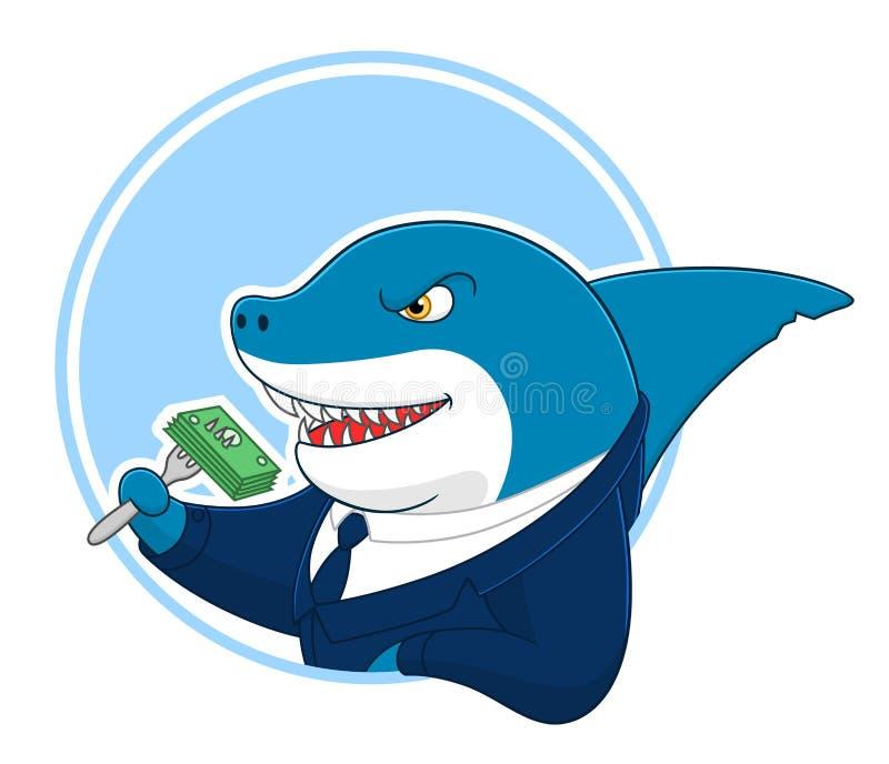 Tubarão do negócio ilustração stock