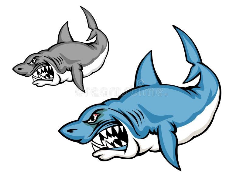 Tubarão do perigo ilustração royalty free
