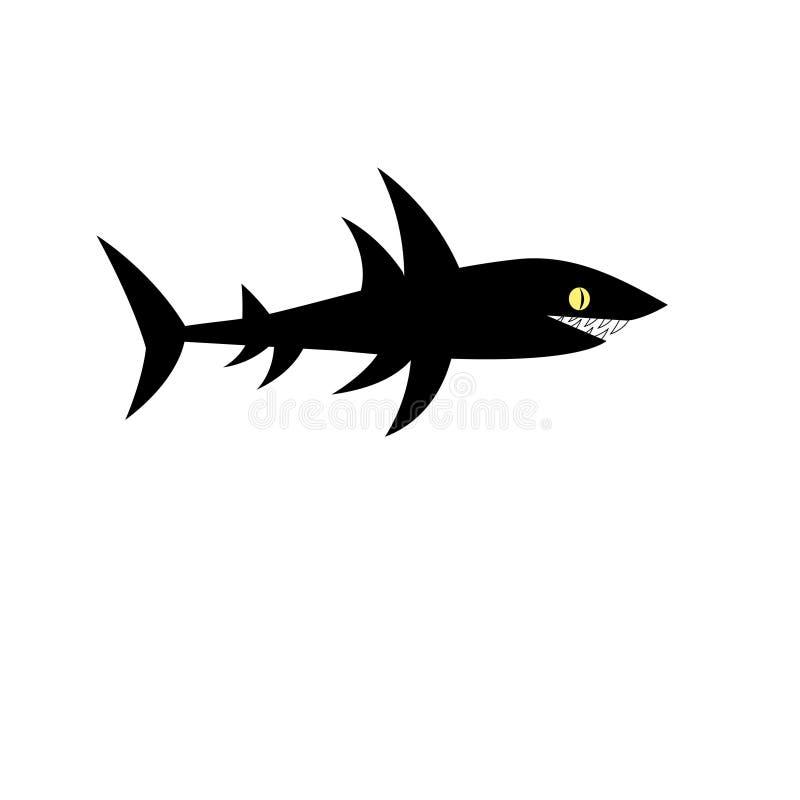 Tubarão preto do vetor ilustração royalty free