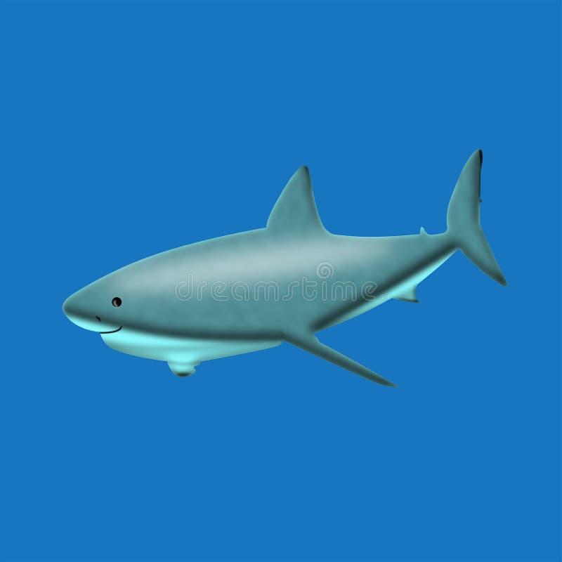 Tubarão sereno ilustração do vetor