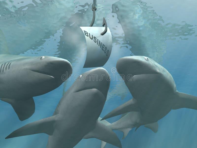 Tubarões do negócio ilustração do vetor