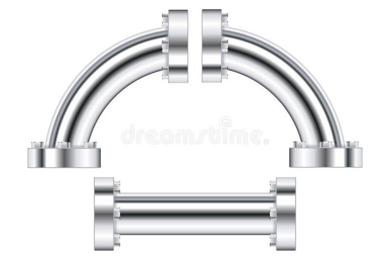 Tubature dell'acqua con la flangia illustrazione vettoriale