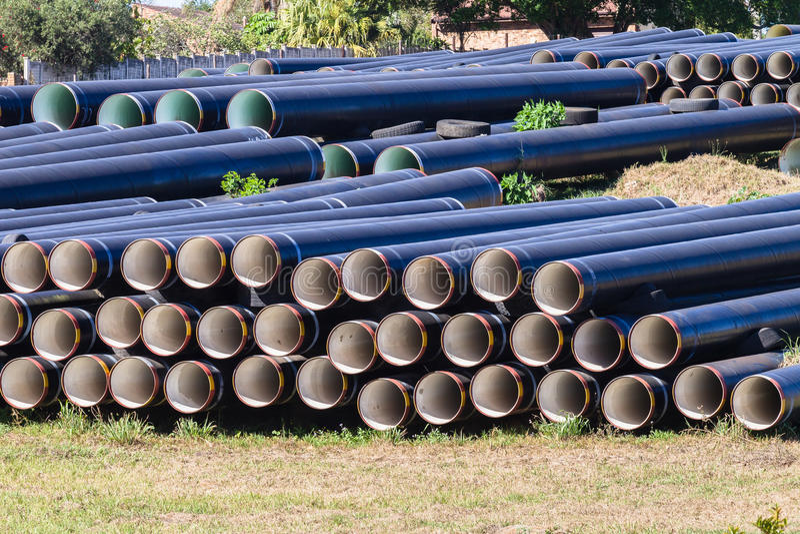 Tubature dell'acqua della costruzione immagine stock