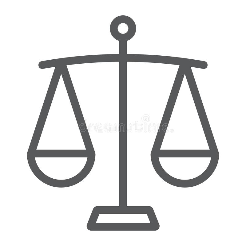 Tubazione di compensazione icona, finanza ed attività bancarie, segno della scala illustrazione vettoriale