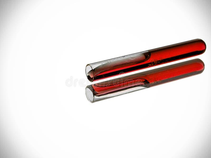 Tube à essai avec le liquide rouge photos libres de droits