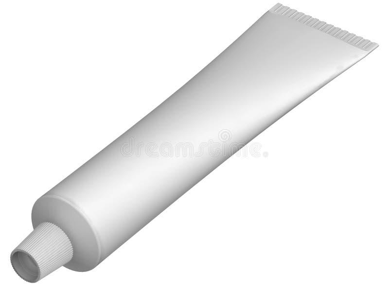 Tube blanc illustration stock