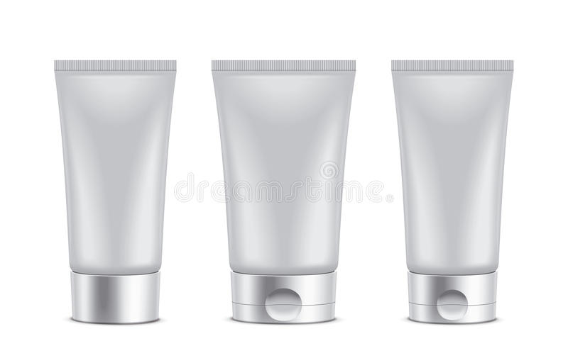 Tube. Clear packaging illustartion. Detailed vector illustration for your projects. Color cap and tube in the original vector can be changed in one click with stock illustration