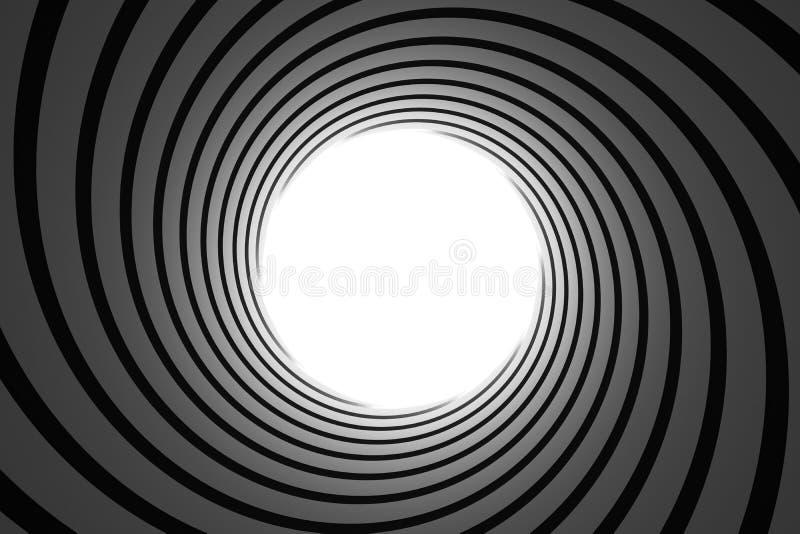 Tube de canon à l'intérieur illustration de vecteur