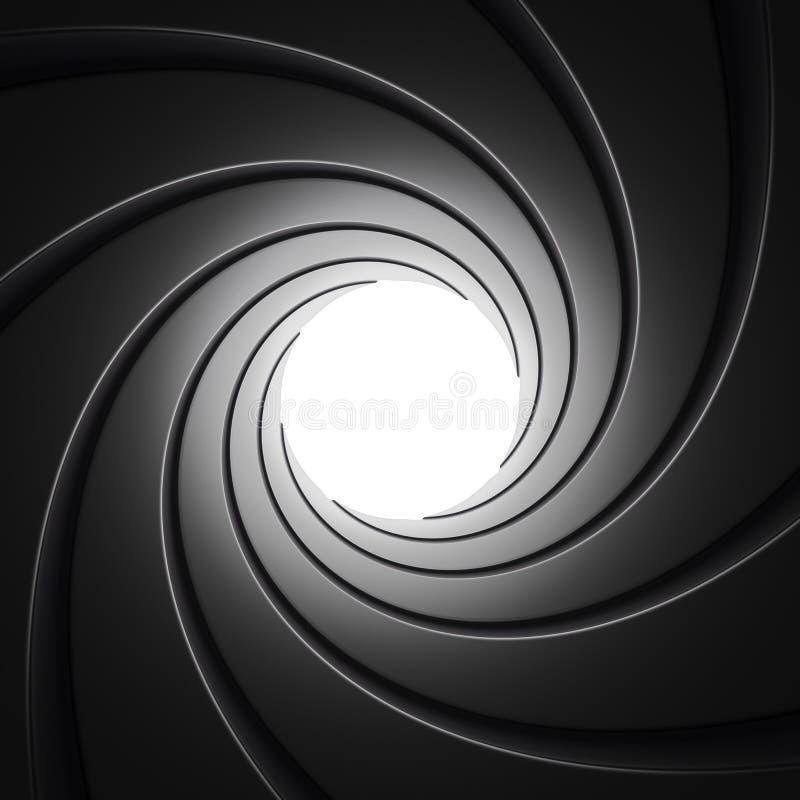 Tube de canon de l'intérieur illustration libre de droits