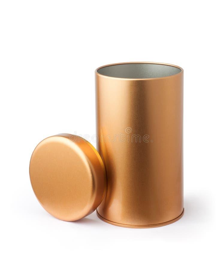 tube de métal doré photos libres de droits