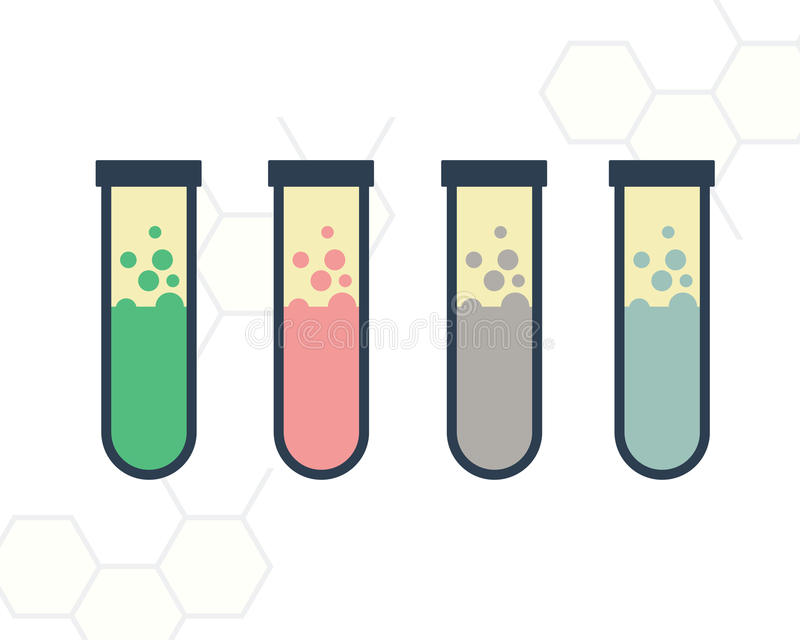 Tube. Design for colorful tube flask stock illustration