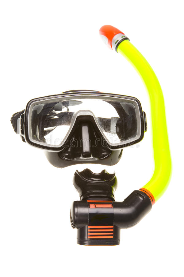 Tube for diving (snorkel) and mask stock photo