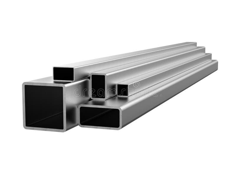 Tube en acier galvanisé Produits métalliques illustration 3D illustration libre de droits