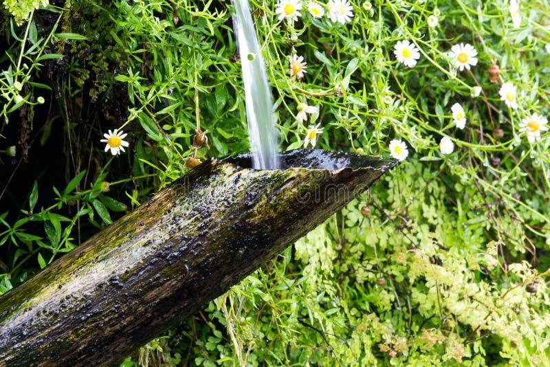 tube et coulement de l 39 eau en bambou dans le jardin japonais photo stock image du baisses. Black Bedroom Furniture Sets. Home Design Ideas