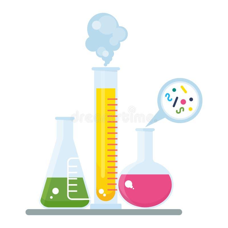 Tube et expérience de chimie illustration libre de droits