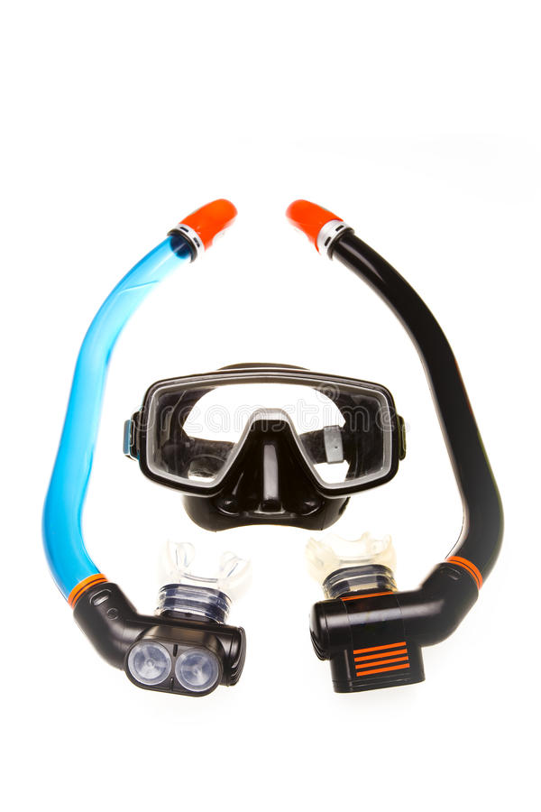 Free Tube For Diving (snorkel) And Mask Stock Image - 13721711